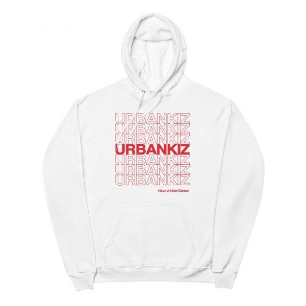 unisex fleece hoodie white front 60e8dc83714d9